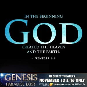 Genesis 3D In the beginning God created the Heaven and the Earth
